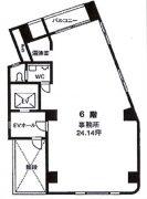桜井ビル(新川)6F平面図